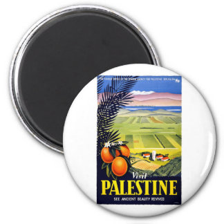 Visit Palestine 2 Holy Land Vintage Travel Art Magnet