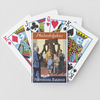 Visit Philadelphia on The Pennsylvania Railroad Bicycle Playing Cards