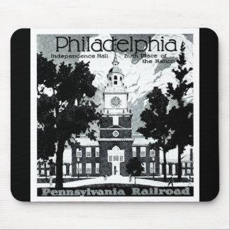 Visit Philadelphia on the Pennsylvania Railroad Mouse Pad