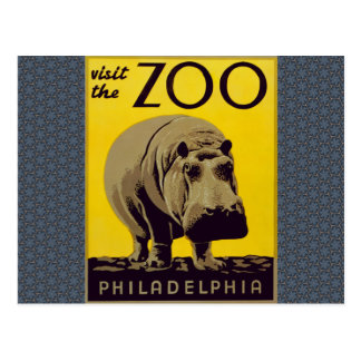 Visit The Zoo!! Postcard