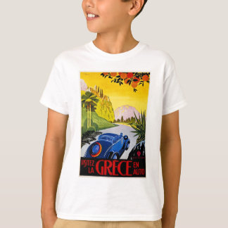 Visitez La Grece En Auto Vintage Travel Poster T-Shirt