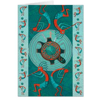 Visitors Anasazi Native Folk Art BLANK Card