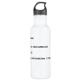Visual Basic Hello World Greeting 710 Ml Water Bottle