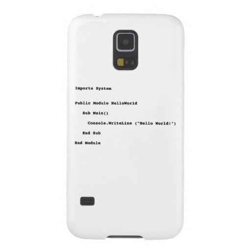 Visual Basic Hello World Greeting Samsung Galaxy Nexus Covers