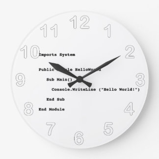 Visual Basic Hello World Greeting Clock