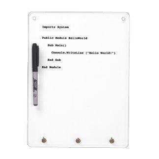 Visual Basic Hello World Greeting Dry Erase Whiteboard
