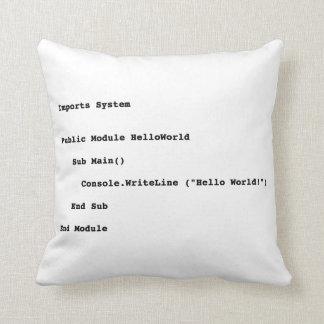 Visual Basic Hello World Greeting Throw Cushion