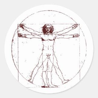 Vitruvian Man BRK Classic Round Sticker
