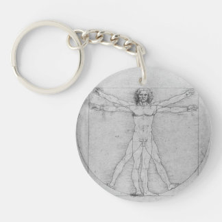 Vitruvian Man by Leonardo da Vinci Key Ring
