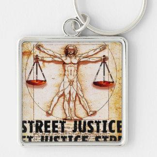 Vitruvian Man by Street Justice Key Ring