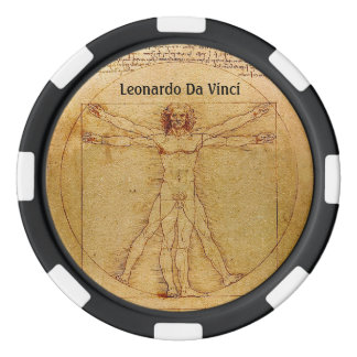 Vitruvian Man-Leonardo Da Vinci Poker Chip Set