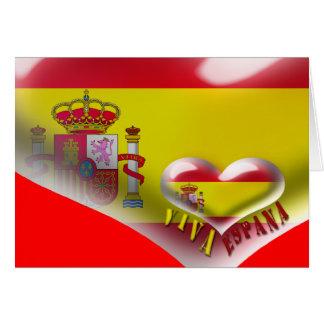 Viva Espana Spain Coat of Arms Heart Card