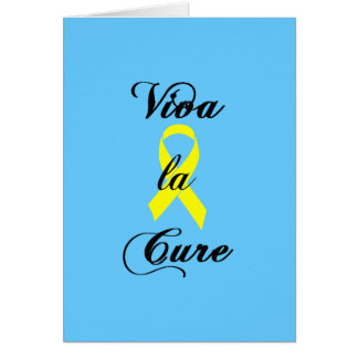 Viva la Cure - Yellow Ribbon Card
