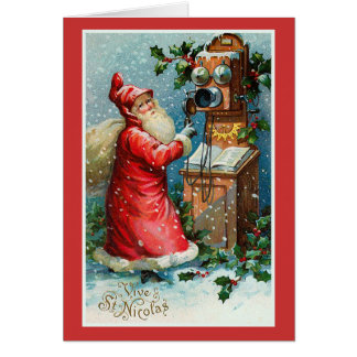 """Vive St. Nicolas"" Vintage French Christmas Card"