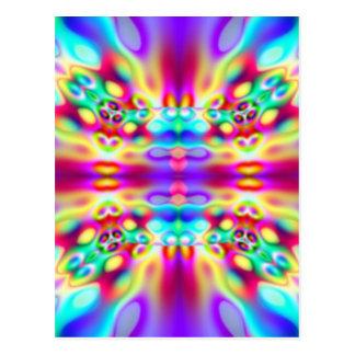 Vivid Abstract Rainbow Convergence Postcard