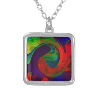 VIVID ABSTRACT SILVER-PLATED SMALL NECKLACE