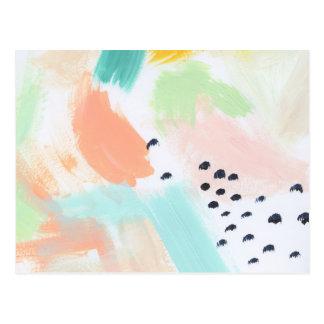 Vivid Abstraction Aqua Postcard