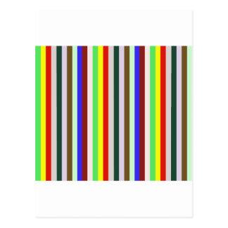 Vivid Color Stripes - 2 Postcard