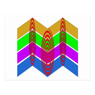 Vivid Colors and Swirls Post Card