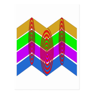 Vivid Colours and Swirls Postcard