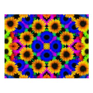 Vivid Floral Pattern Postcard