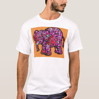 vivid funky graffiti elephant T-Shirt