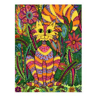 Vivid Garden Cat 2 Postcards
