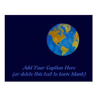 Vivid Globe Featuring the Americas Postcard
