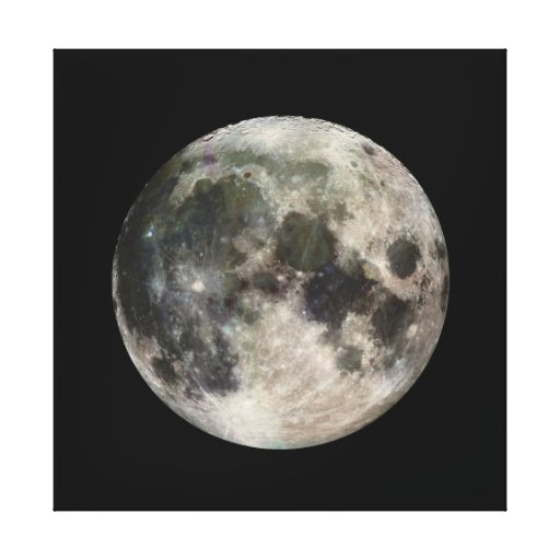 Vivid Image of the Moon Canvas Print