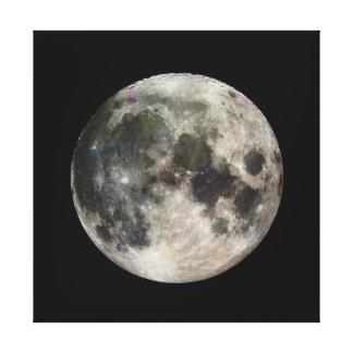 Vivid Image of the Moon Gallery Wrap Canvas