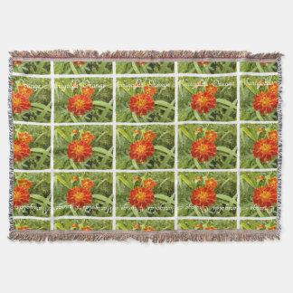 Vivid Orange Marigolds Floral Botanical