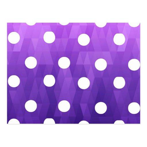 Vivid polka dots  big white purple by healing love postcards