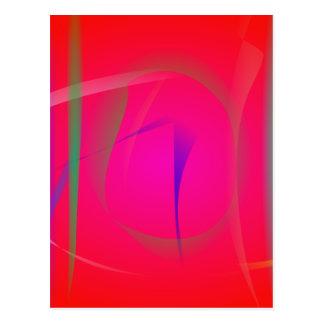 Vivid Red Abstract Bamboo Thicket Post Card