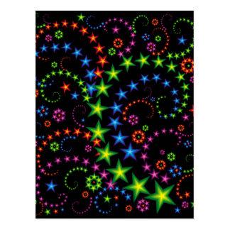 vivid stars composition postcard