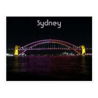 vivid sydney bridge postcards