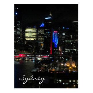 vivid sydney night post card