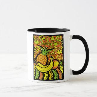 vivid tropical stillife mug
