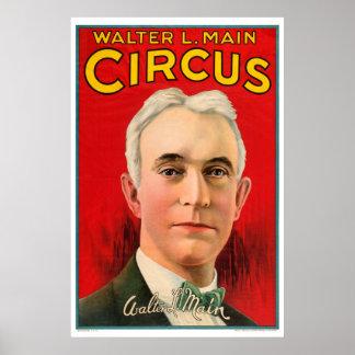 Vivid Vintage Walter L. Main Circus Poster