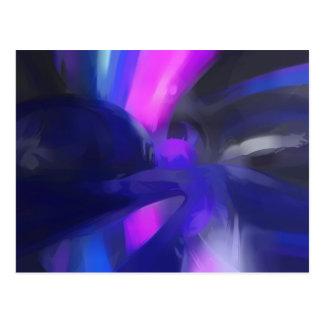 Vivid Waves Pastel Abstract Postcard