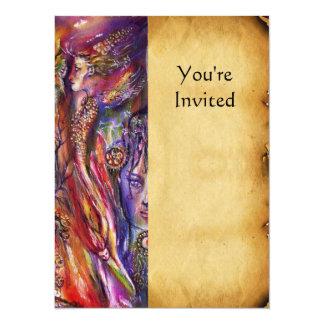 VIVIEN AND MERLIN 14 CM X 19 CM INVITATION CARD