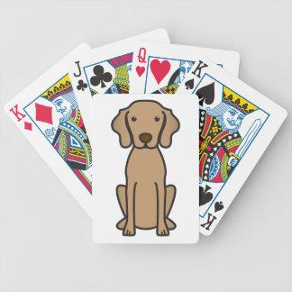 Vizsla Dog Cartoon Bicycle Playing Cards
