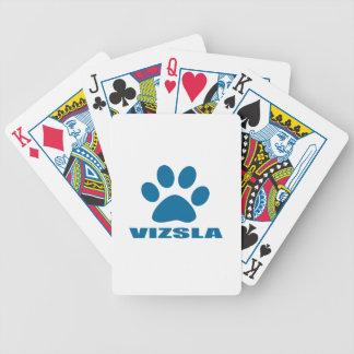 VIZSLA DOG DESIGNS BICYCLE PLAYING CARDS