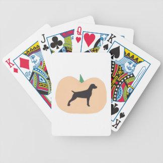 Vizsla Dog Halloween Playing Cards