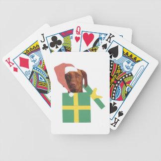 Vizsla Dog Santa Hat Playing Cards