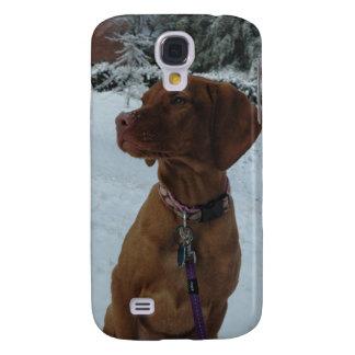 Vizsla in Winter Galaxy S4 Case