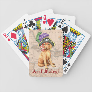 Vizsla Pirate Bicycle Playing Cards