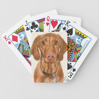 Vizsla Puppy Bicycle Playing Cards