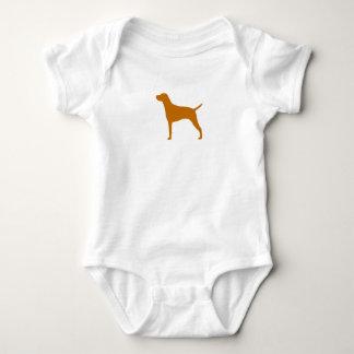 Vizsla Silhouette Baby Bodysuit
