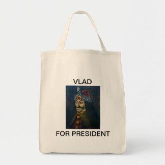 Vlad for President shopping tote. Tote Bag