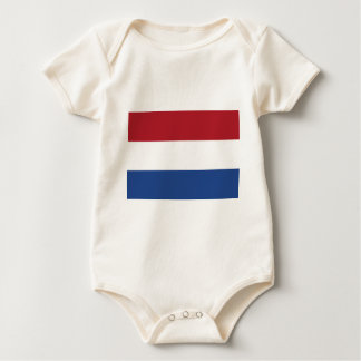 Vlag van Nederland - Flag of the Netherlands Baby Bodysuit